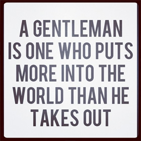 The Art of Being a Gentleman<span><br><span>Making a difference.<br><a href='http://static.quoteswave.com/' target='blank' style='text-decoration:underline;color:#ddd'><b>Read More</b></a></span></span>