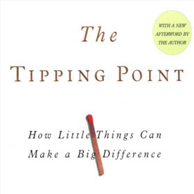 "The Tipping Point<span><br><span>""The biggest mistake people make in life is not doing what they enjoy most."" - Malcolm Gladwell<br><a href='http://www.amazon.com/The-Tipping-Point-Little-Difference/dp/0316346624' target='blank' style='text-decoration:underline;color:#ddd'><b>Read More</b></a></span></span>"